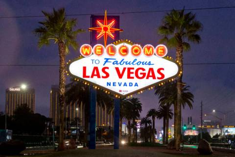 The Welcome to Fabulous Las Vegas sign is shown Nov. 20, 2019. (Elizabeth Page Brumley/Las Vega ...