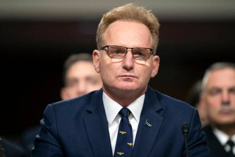 FILE - In this Dec. 3, 2019, file photo, acting Navy Secretary Thomas Modly testifies during a ...
