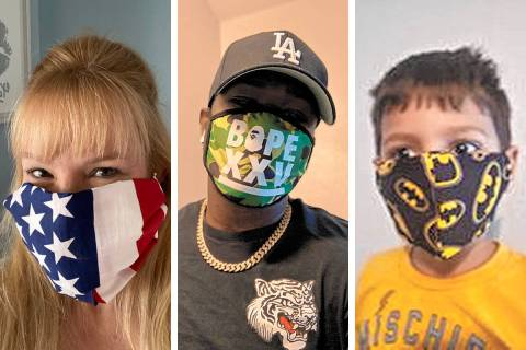 Some of the masks Review-Journal readers sent as part of #ShowYourMasks.