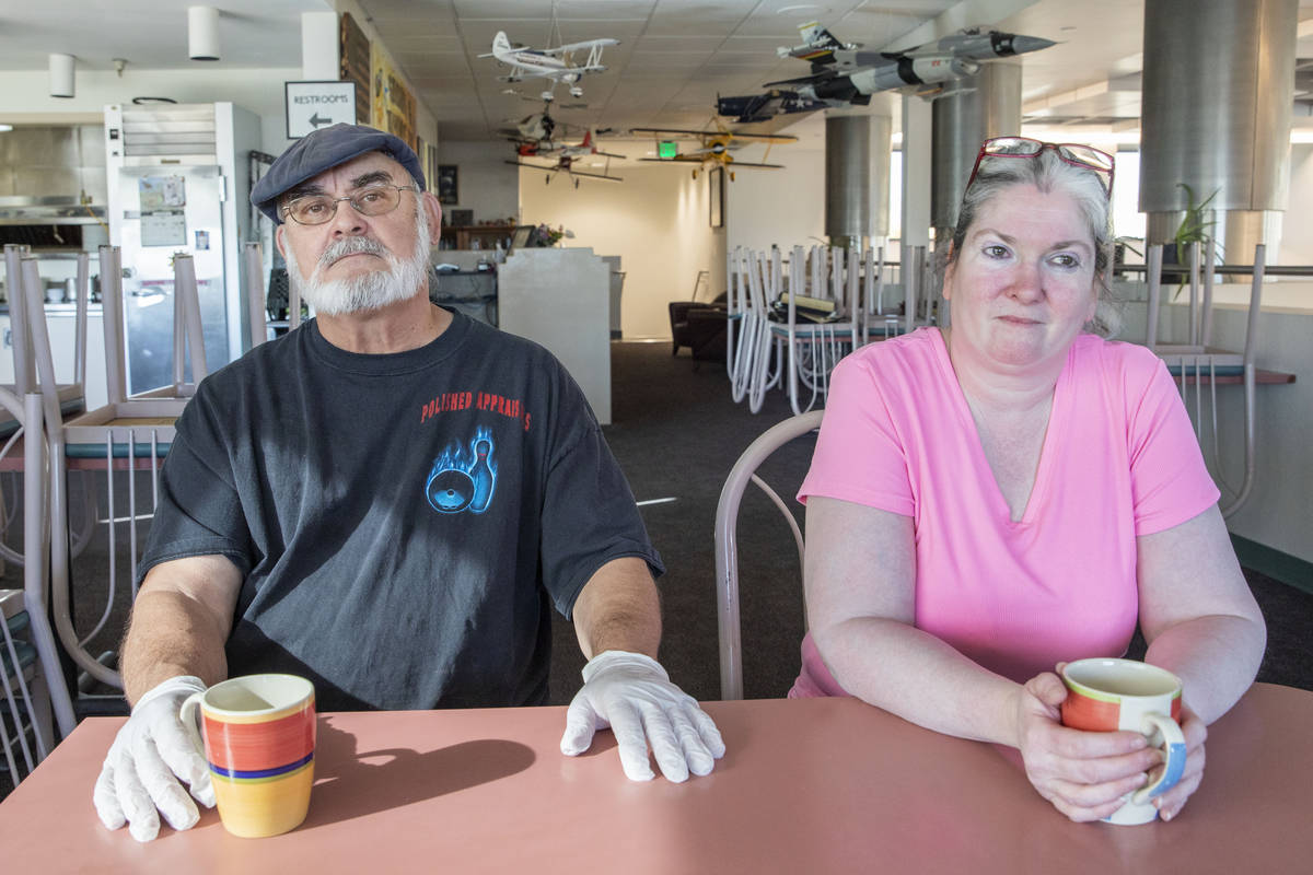 Sunshine & Tailwinds Cafe owners Stephen Maynard, left, and Tara Gilbert, are photographed ...
