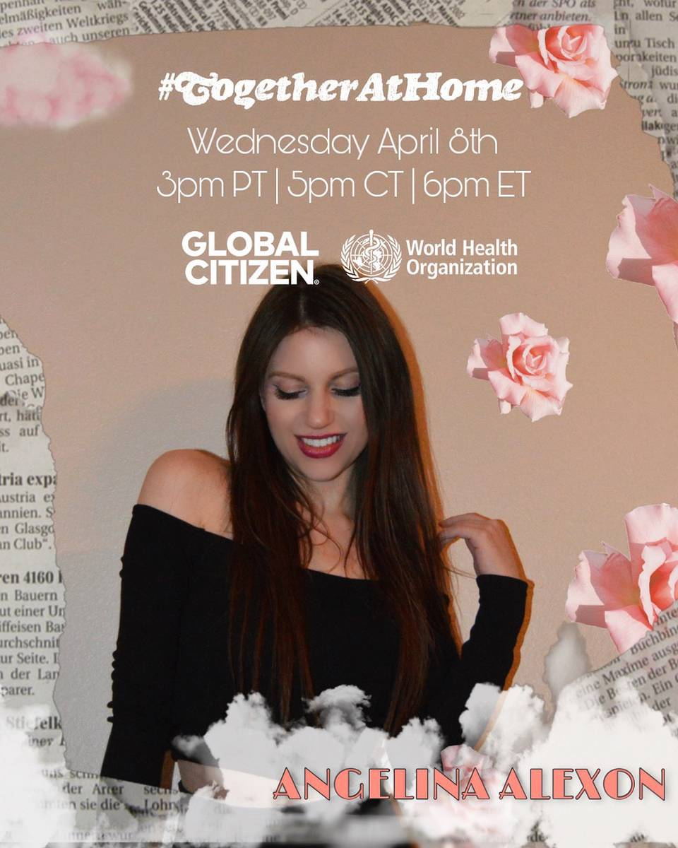 Las Vegas singer Angelina Alexon will be showcased in the Global Citizen organization's #Togeth ...