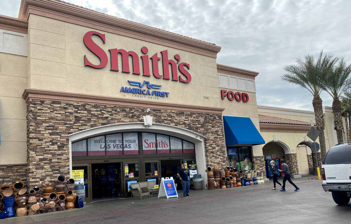 Smith's Food and Drug at 7130 N. Durango Drive in Las Vegas Monday, April 6, 2020. (K.M. Cannon ...