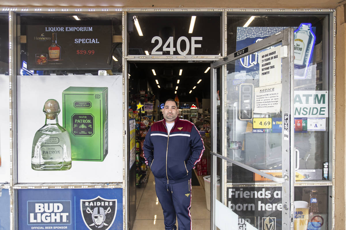 Operations manager Kevork Nersessian at Liquor Emporium on Tuesday, April 7, 2020, in Las Vegas ...