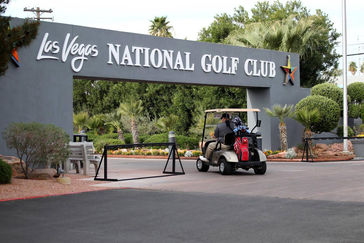 Timothy Metcalf of Las Vegas prepares for a round at Las Vegas National Golf Club Wednesday, Ap ...