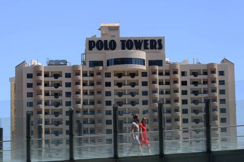 The exterior of Polo Towers at 3745 S. Las Vegas Blvd. photographed on Wednesday, May 9, 2018, ...