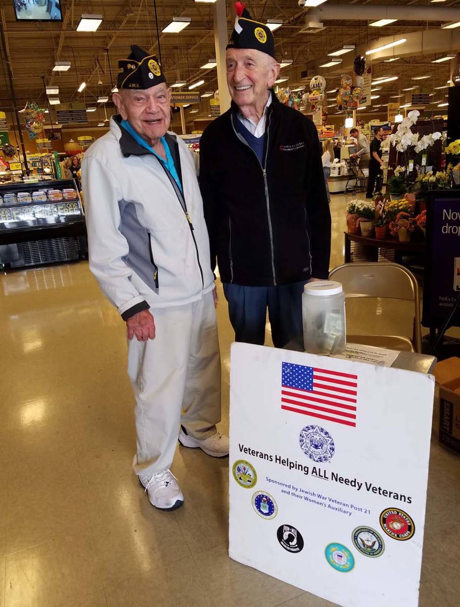 A photo of WWII Army veteran Edward Turken during a fundraiser for homeless veterans in 2019. ...