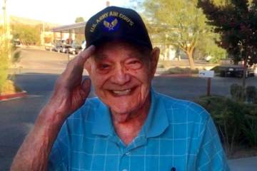 WWII Army veteran Edward Turken, 96, poses for a photo in January 2020. Turken died Sunday, Ap ...
