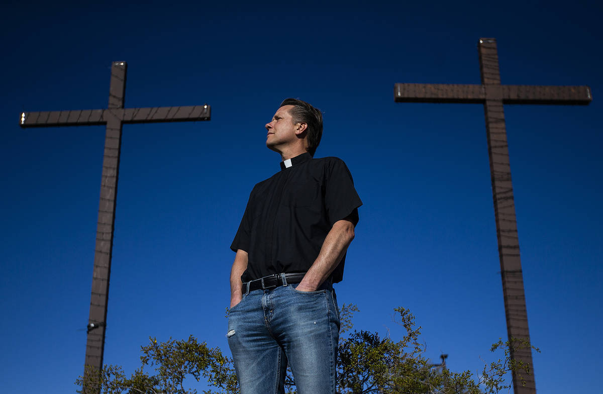 Pastor Paul Block at New Song Church on Tuesday, April 7, 2020, in Henderson. (Benjamin Hager/L ...