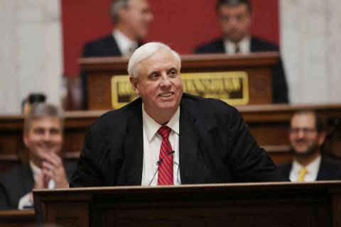 FILE - In this Jan. 8, 2020, file photo, West Virginia Governor Jim Justice delivers his annual ...