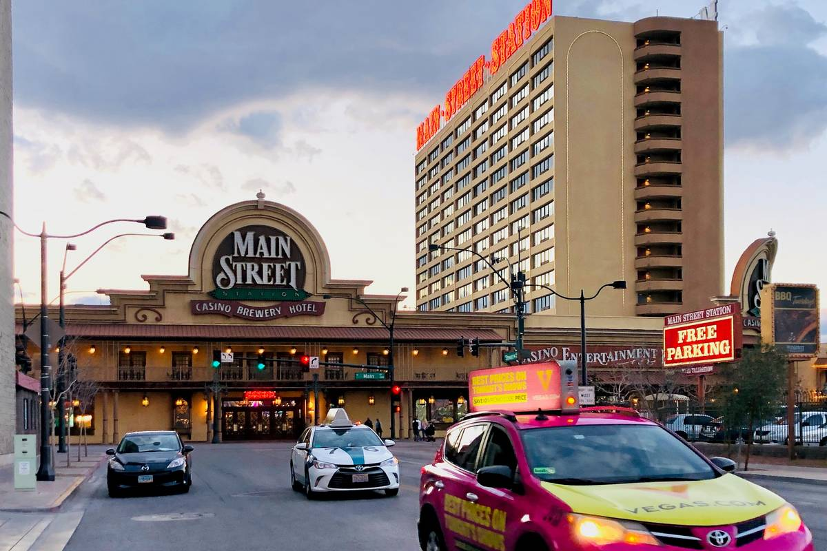 Main Street Station operated by Boyd Gaming Corp. is seen on Saturday, March 14, 2020, in Las V ...
