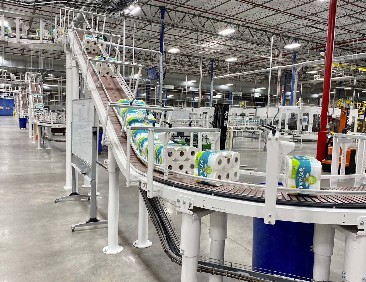 The production line at the Georgia-Pacific plant in Atlanta. NCSolutions, a data and consulting ...