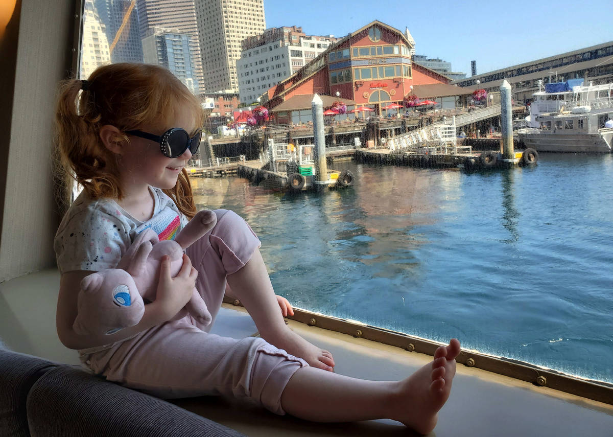 This undated photo provided by Rebecca Knight in April 2020 shows her daughter, Nova, in Seattl ...