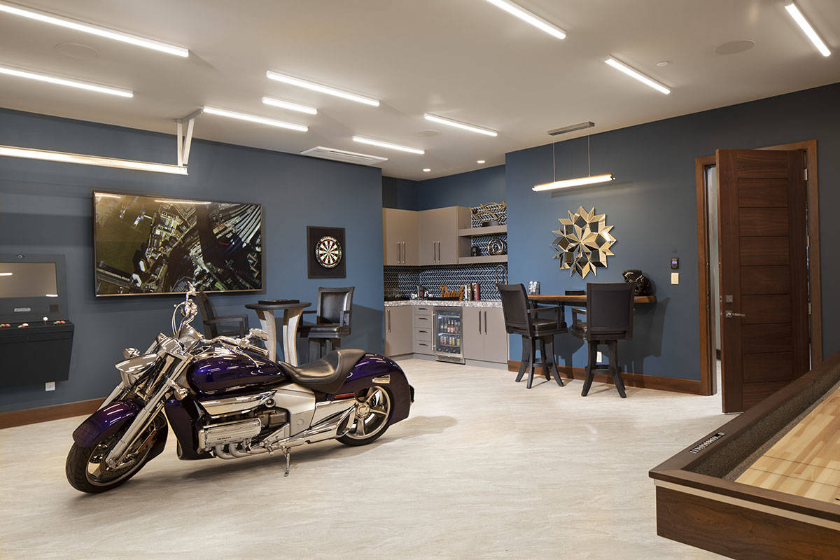 Jeffrey A. Davis Photography Inc. One of the two garages can be used as a man cave.