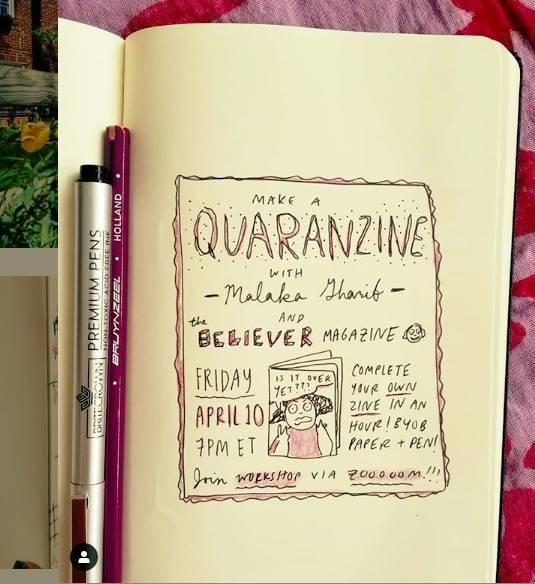 Malaka Gharib will walk viewers through a short tutorial today on make a quarantine zine of the ...