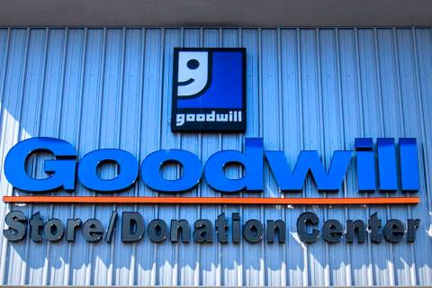 People come and go from the the Goodwill Centennial Retail Store, Friday, Sept. 30, 2016, in La ...
