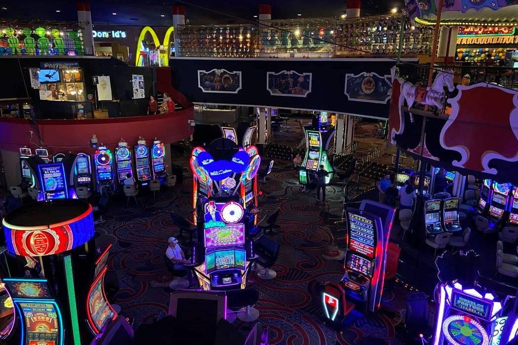 Circus Circus casino floor pictured on March 12, 2020, in Las Vegas. (Rachel Aston/Las Vegas Re ...