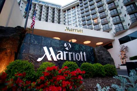Marriott will make $10 million in rooms available in various cities, including Las Vegas, for f ...