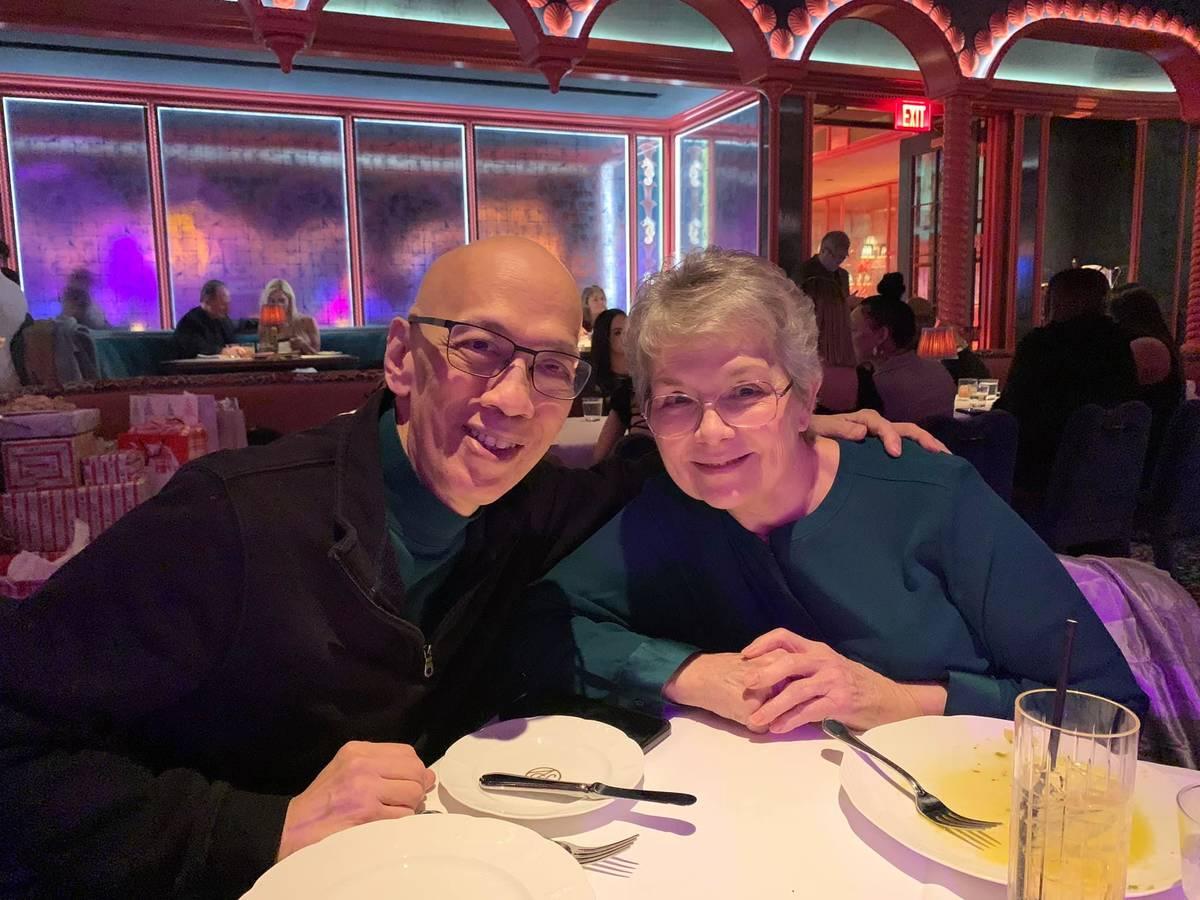 Ron and Sharon Rivera celebrate their 16th wedding anniversary in January 2020. (Raquel Sanchez)