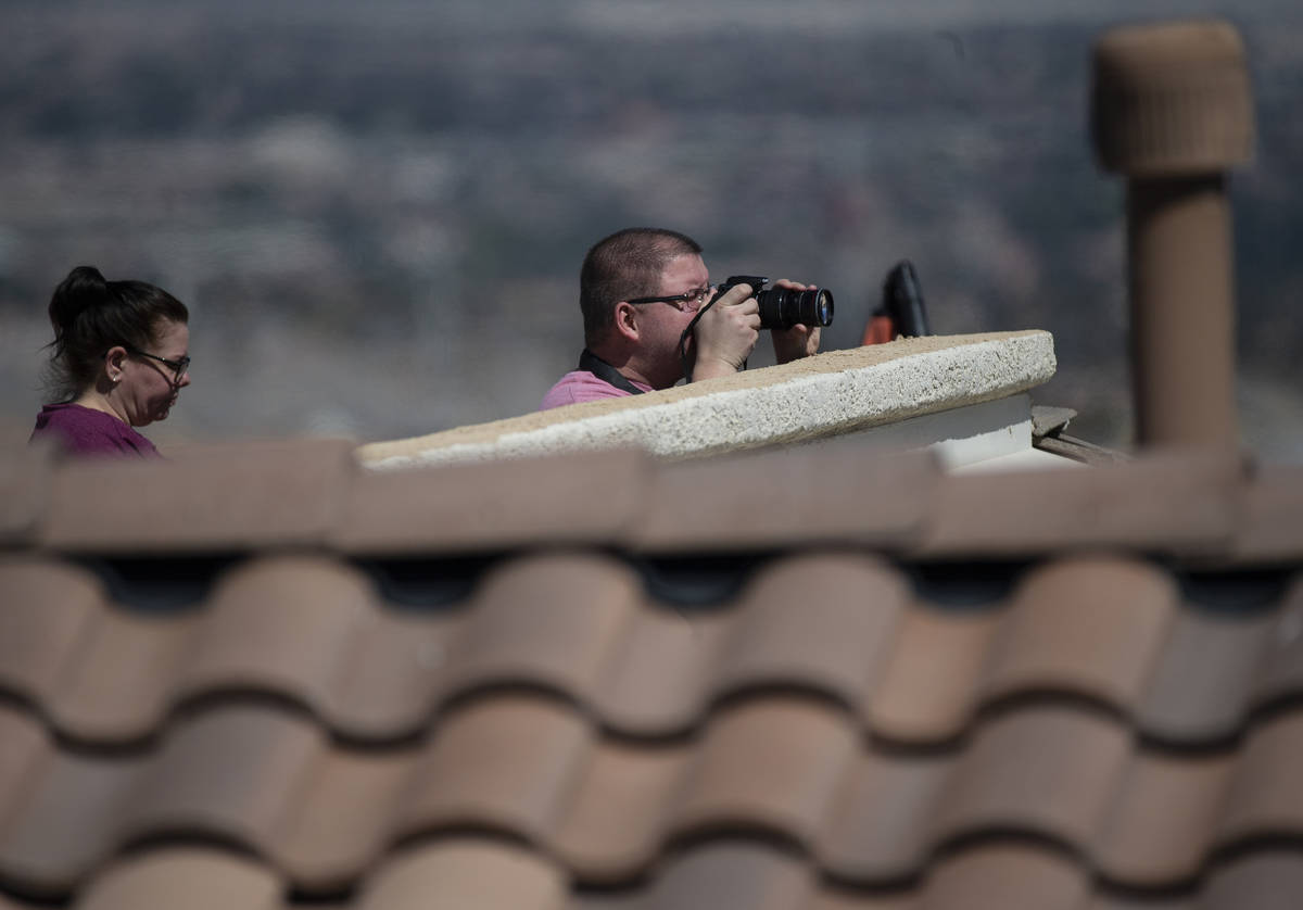 Residents in the north west watch six F-16 Fighting Falcons with the U.S. Air Force Air Demonst ...