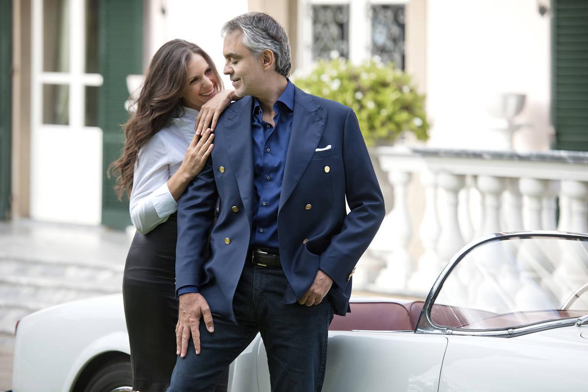 Veronica and Andrea Bocelli. (Courtesy)