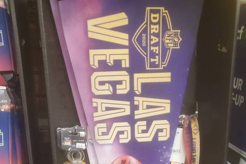 2020 Las Vegas NFL Draft merchandise seen at Smith's Food and Grocery. (Twitter/@ChadRobbins1)