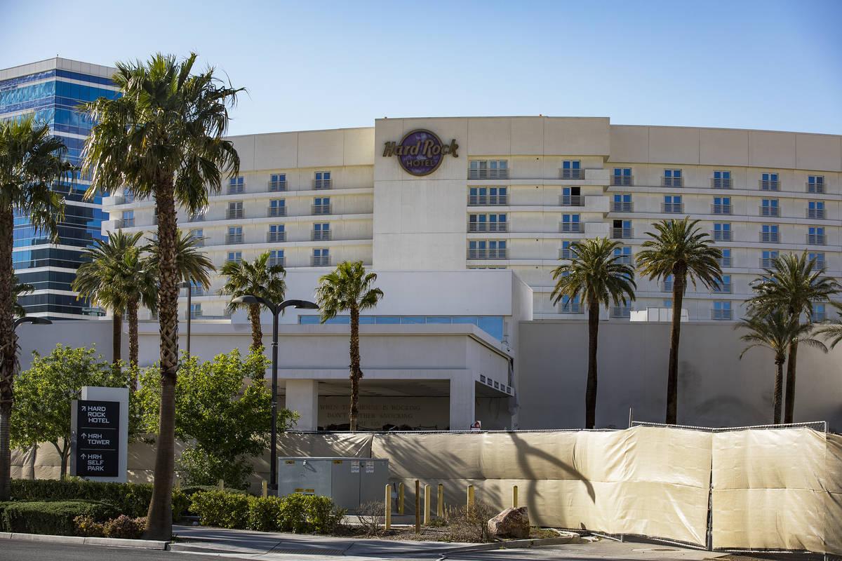 The Hard Rock Hotel in Las Vegas, Monday, April 13, 2020. (Rachel Aston/Las Vegas Review-Journa ...