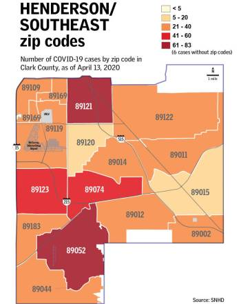 Coronavirus Cases By Zip Code In Las Vegas Area Las Vegas Review