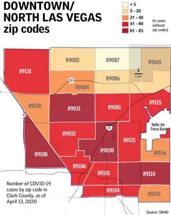 Las Vegas Zip Code Map 2020 Coronavirus cases by zip code in Las Vegas area | Las Vegas Review