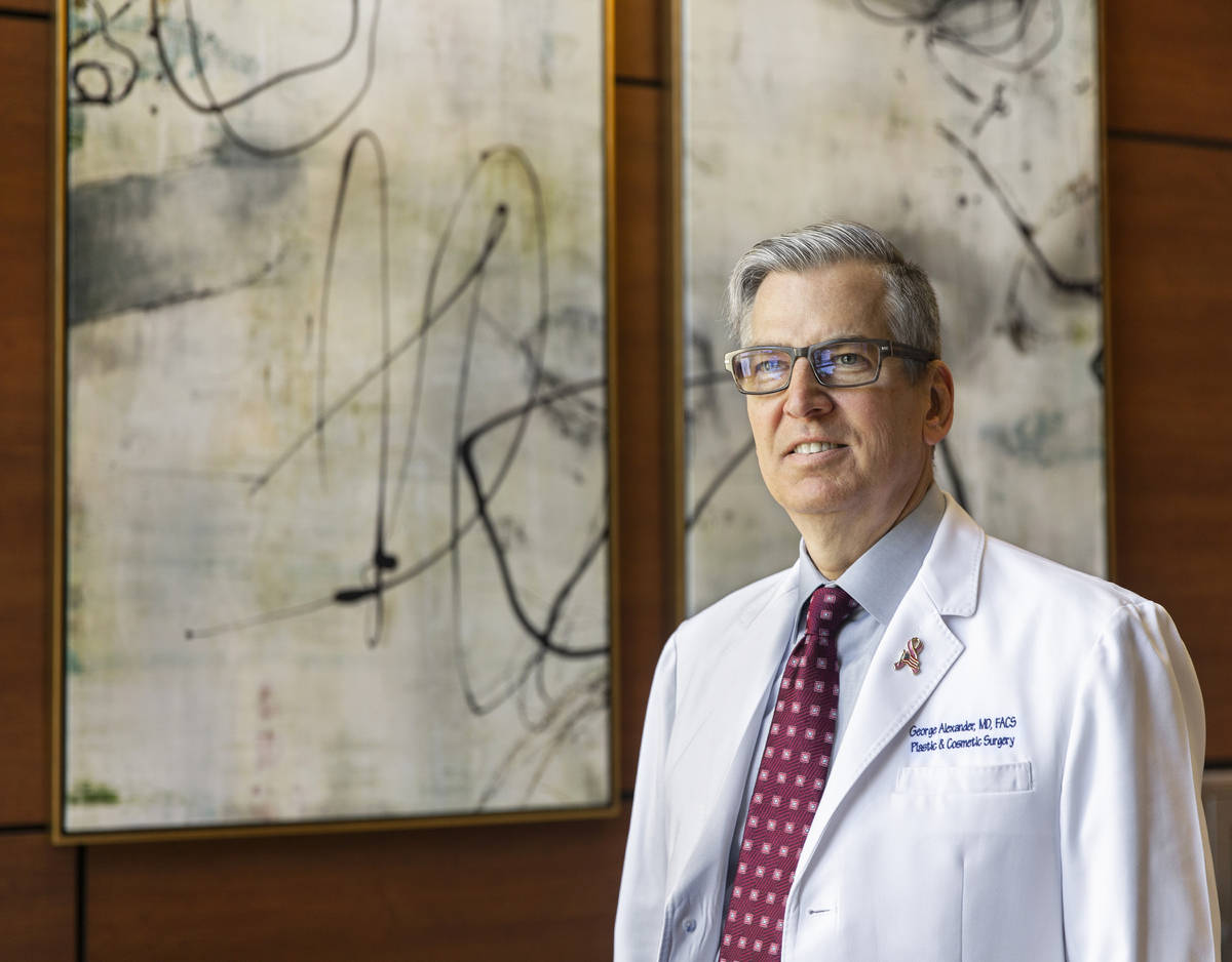 Dr. George Alexander, the past president of the Clark County Medical Society, at his Las Vegas ...