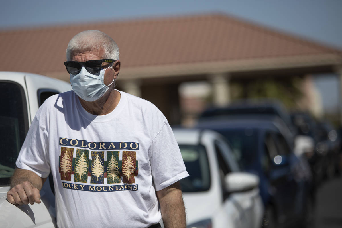 Ron Dicocco, of Las Vegas, waits for COVID-19 antibody testing outside PAM Speciality Hospital ...
