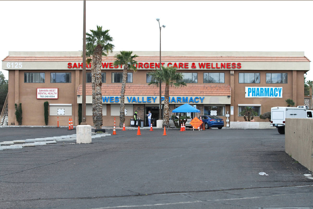 Sahara West Urgent Care & Wellness clinic is seen in Las Vegas, Sunday, April 12, 2020. (Ch ...