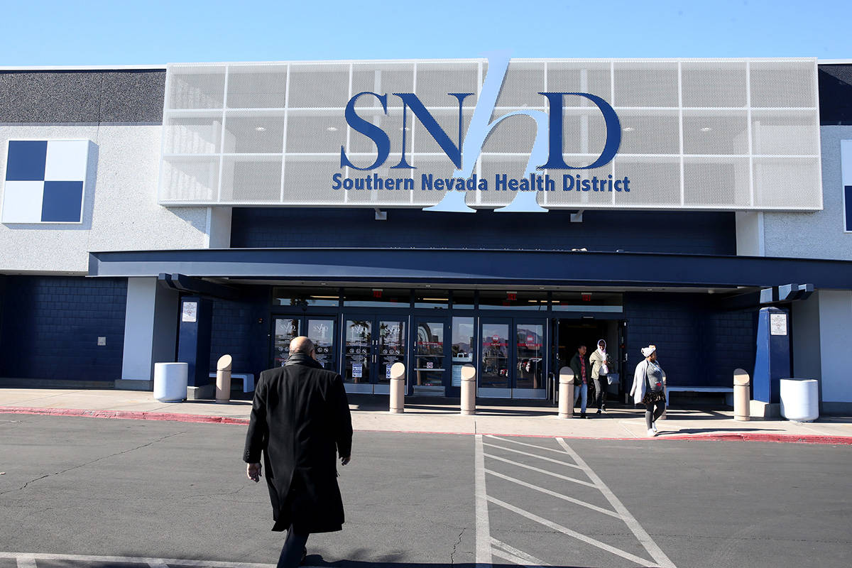 The Southern Nevada Health District at 280 S. Decatur Blvd. in Las Vegas. (K.M. Cannon/Las Vega ...