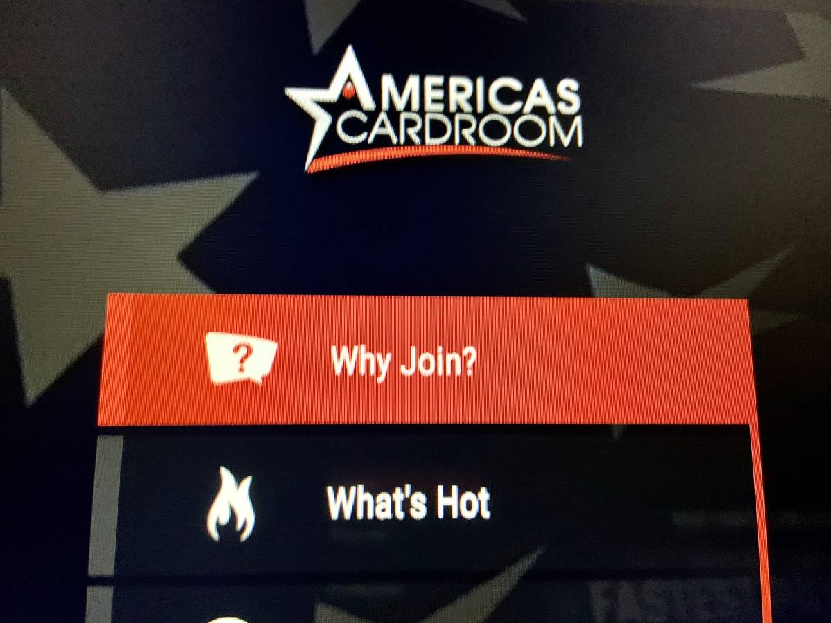 The logo on the America's Cardroom website. (Jim Barnes/Las Vegas Review-Journal)
