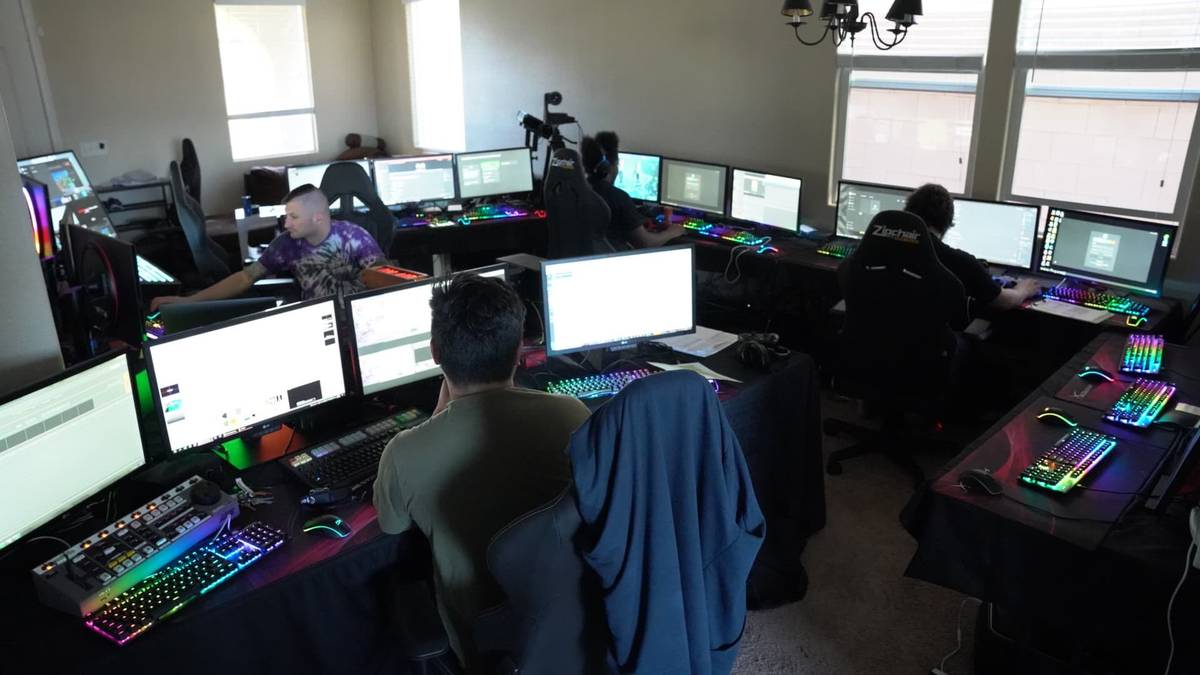The HyperX Esports production operation is shown at the team's residence and headquarters in La ...