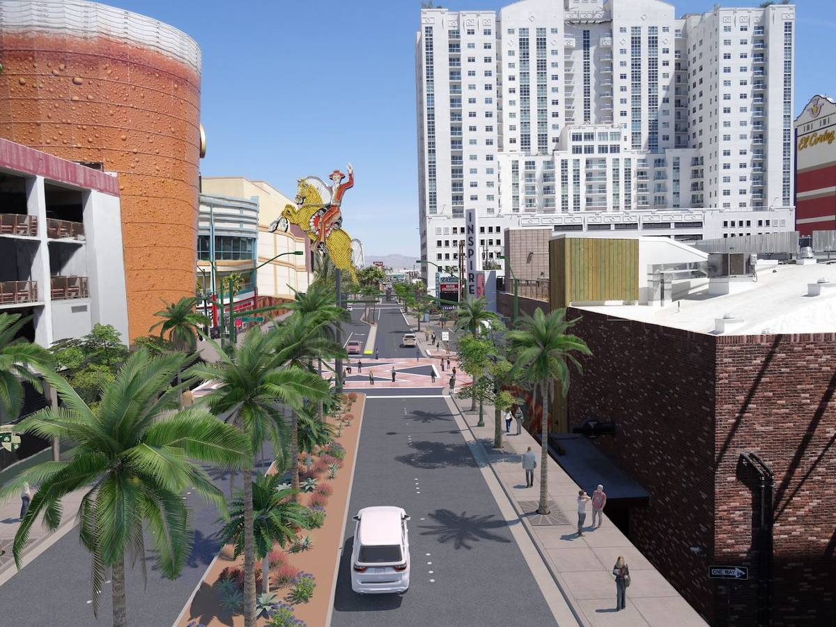 An artist rendering of what Las Vegas Boulevard will look like following a three year, $125 mil ...