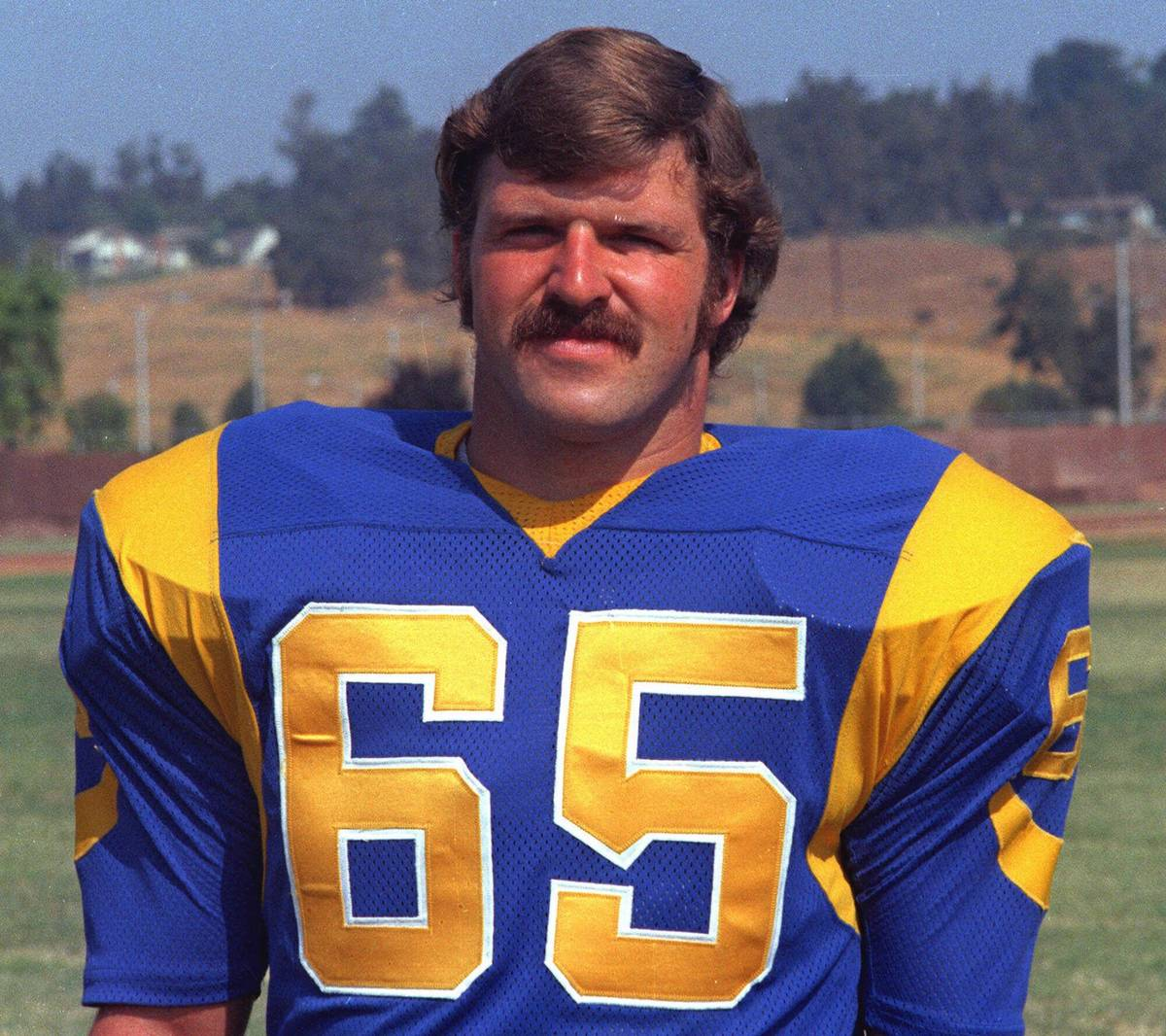 Los Angeles Rams Tom Mack is shown in this 1973 photo. Mack was voted into the Pro Football Hal ...