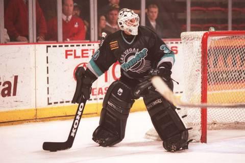 Thunder goalie Clint Malarchuk. (Las Vegas Review-Journal)