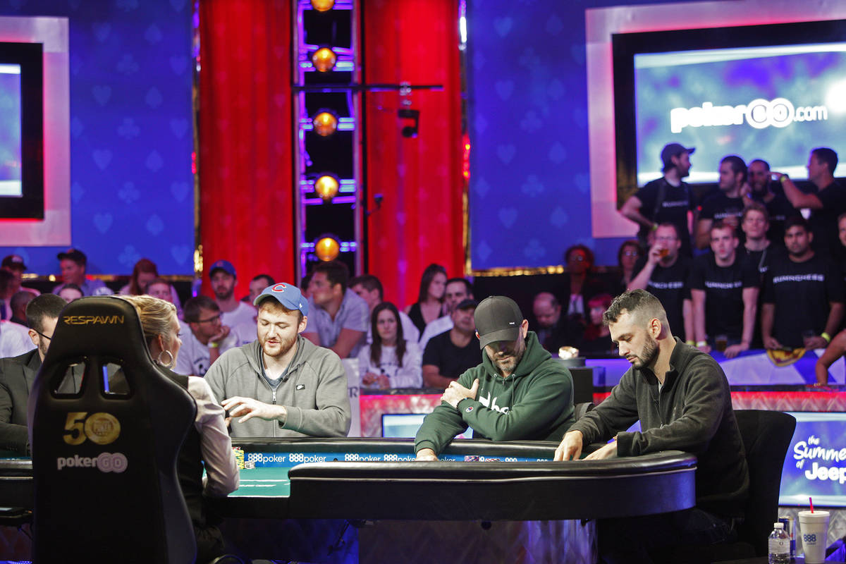 The second day of the main event final table at the World Series of Poker tournament at the Rio ...