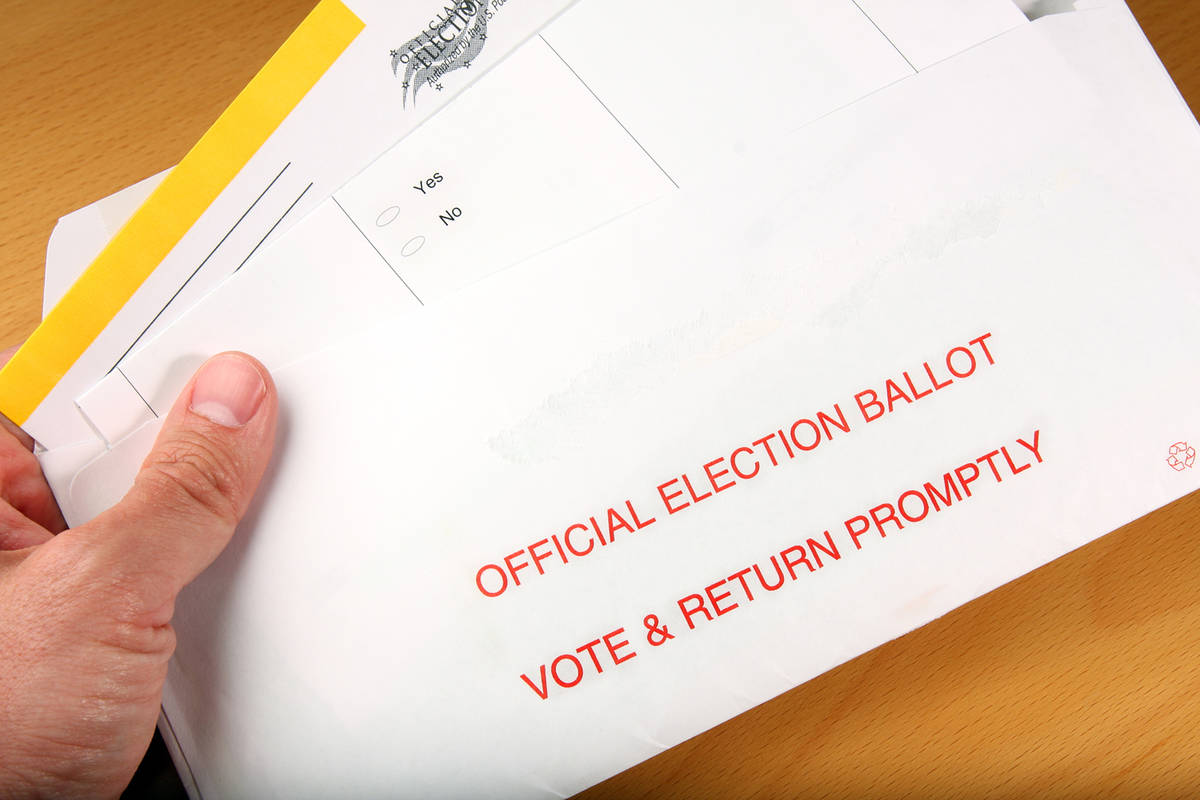 Getty Images Nevadans will be voting by absentee ballot for the 2020 primary election, set for ...
