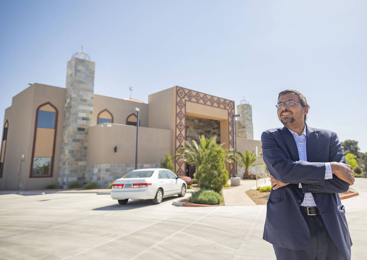 Imam Shamsuddin Waheed is photographed outside of Masjid Ibrahim, a mosque that is temporarily ...