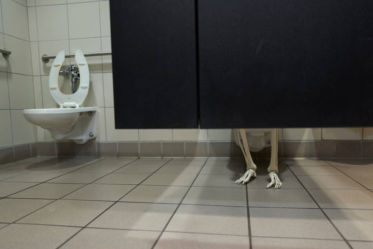 Everyone needs a potty break. (Aaron Mayes/UNLV Special Collections)