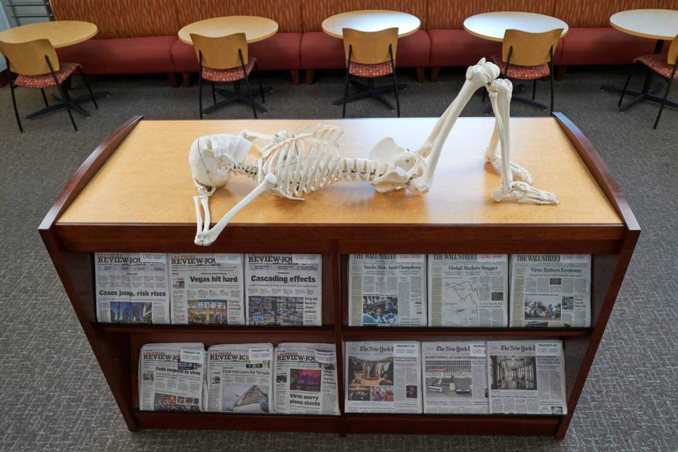 Someone found a place to nap in the library. (Aaron Mayes/UNLV Special Collections)