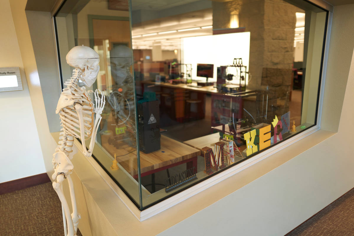 If only the Makerspace was open, Mandy could 3D print some friends. (Aaron Mayes/UNLV Special C ...