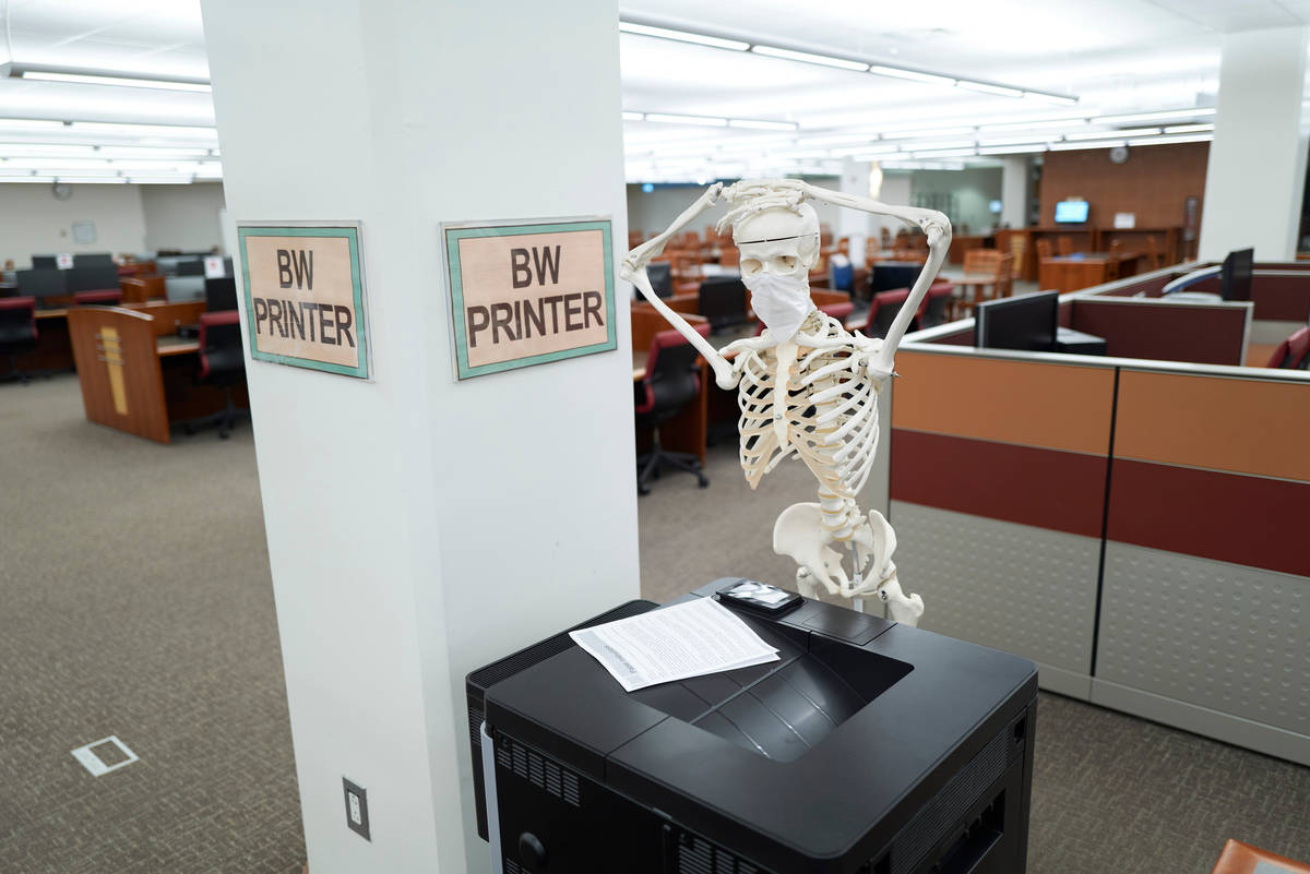 The printer is jammed! (Aaron Mayes/UNLV Special Collections)