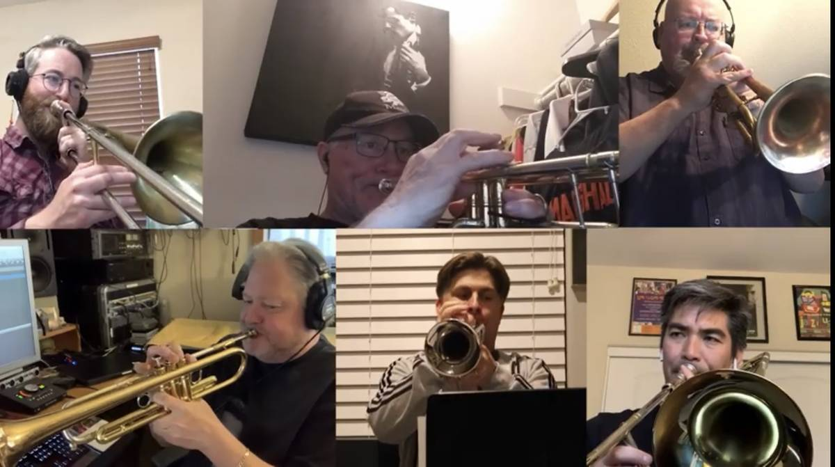 """Members of Santa Fe & The Fat City Horns are shown in the new """"Needing Each Other"""" video, writt ..."""