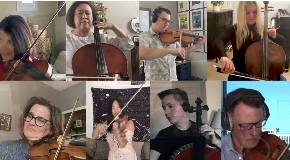 """Las Vegas string players are shown in the new """"Needing Each Other"""" video, written by Keith Thom ..."""