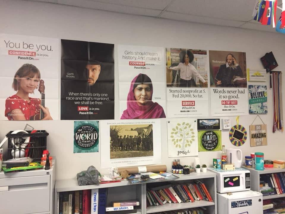 Jamie Tadrzynski took a photo of her classroom on the last day she was allowed in. Her senior g ...