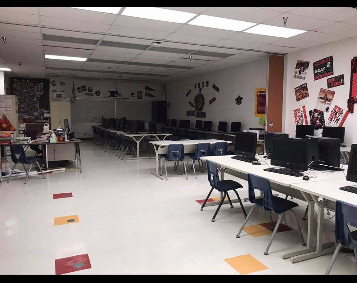Shana Hyatt Stott took a photo of her classroom on the last day she was there before school bui ...