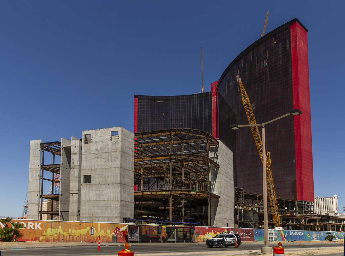 Construction continues on Resorts World on Tuesday, April 14, 2020 in Las Vegas. (L.E. Baskow/L ...