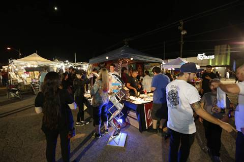 First Friday attendees gather at a 2016 event. The downtown Las Vegas monthly celebration of th ...